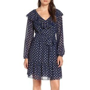 MICHAEL MICHAEL KORS Sun Print Ruffle Dress NEW XS